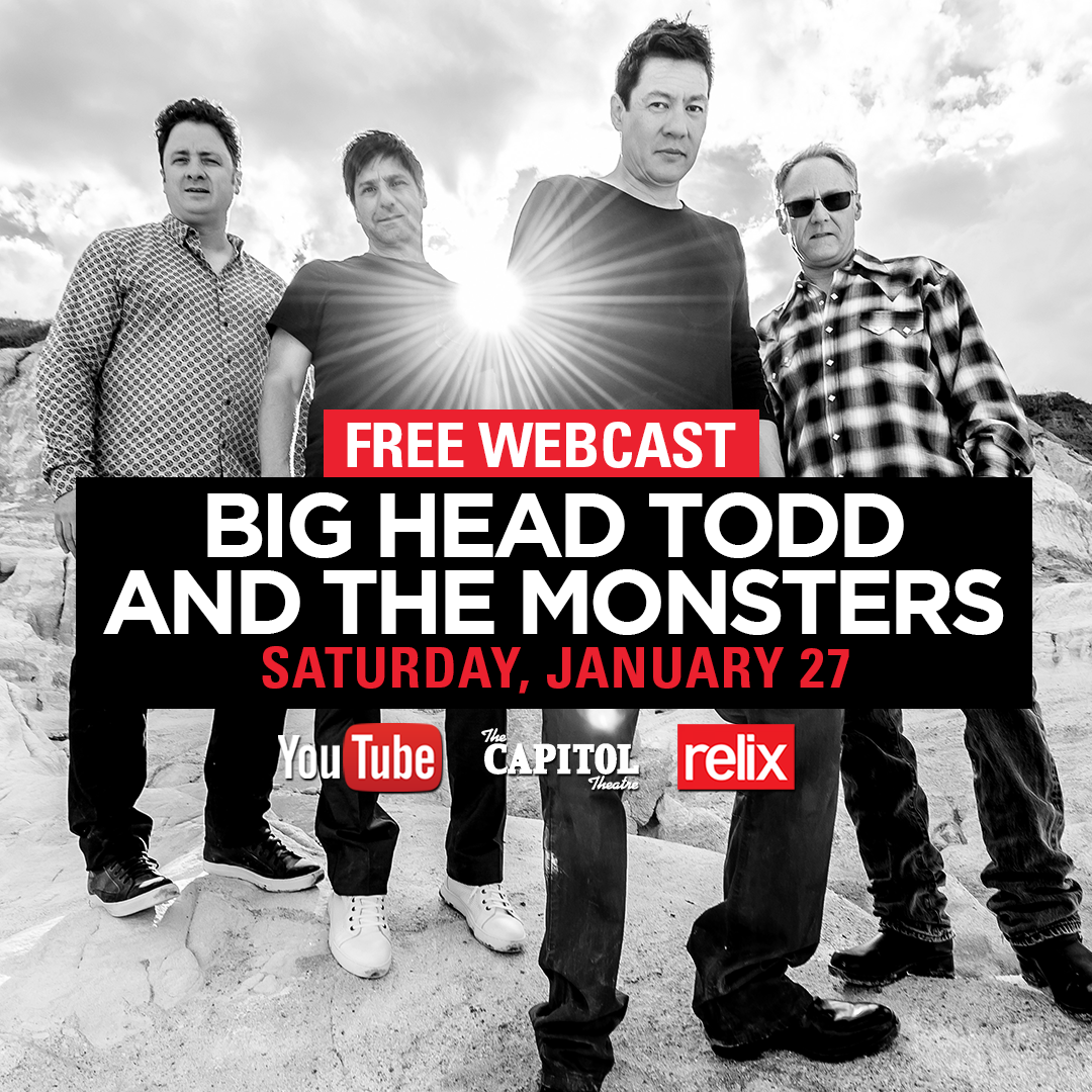 Tune in TONIGHT to catch Big Head Todd LIVE at The Capitol Theatre!
