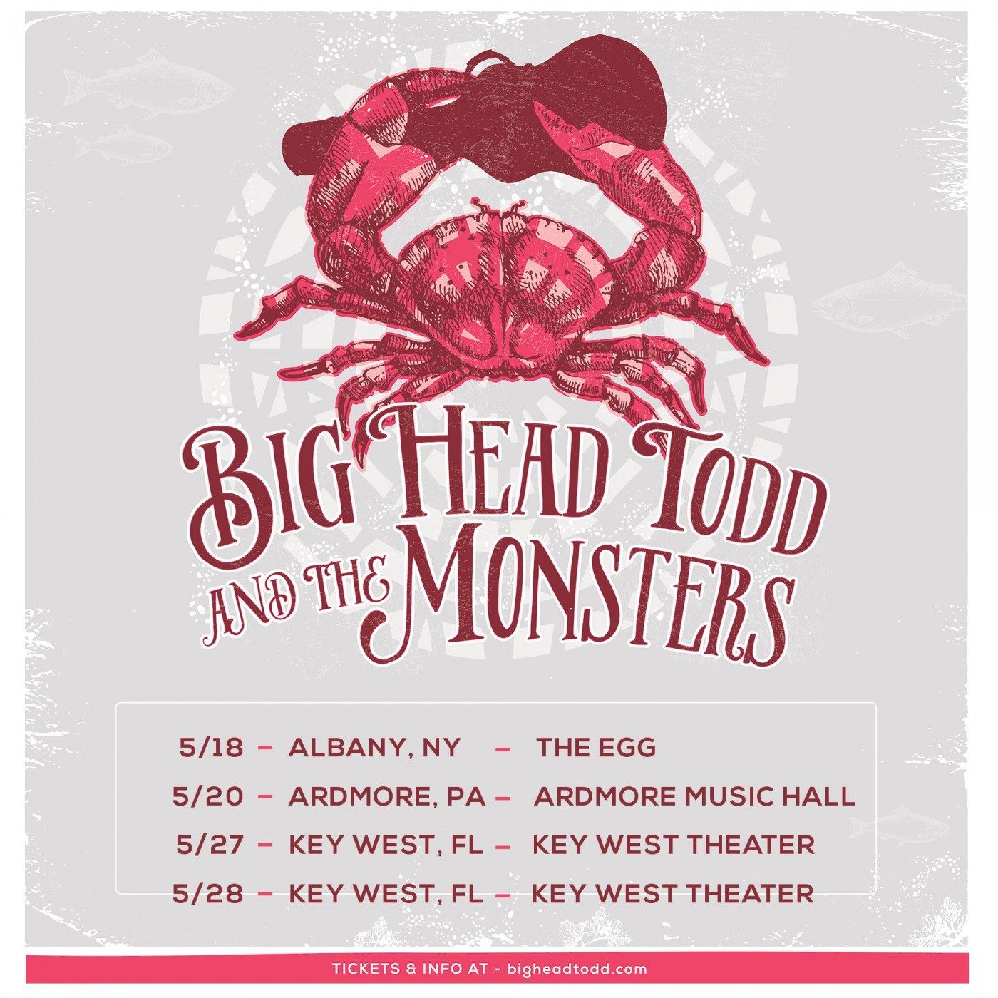 Big Head Todd and The Monsters are making their way along the East Coast this May!