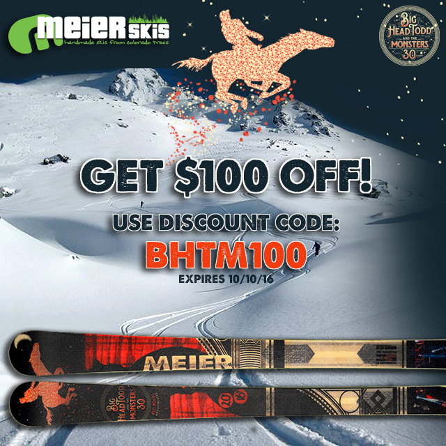 Big Head Todd & The Monsters Partner with Meier Skis