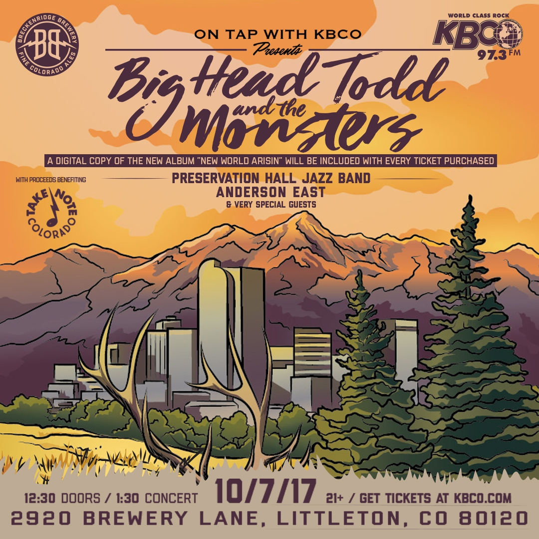 Big Head Todd playing at Breckenridge Brewery for KBCO On Tap series Oct. 7th!