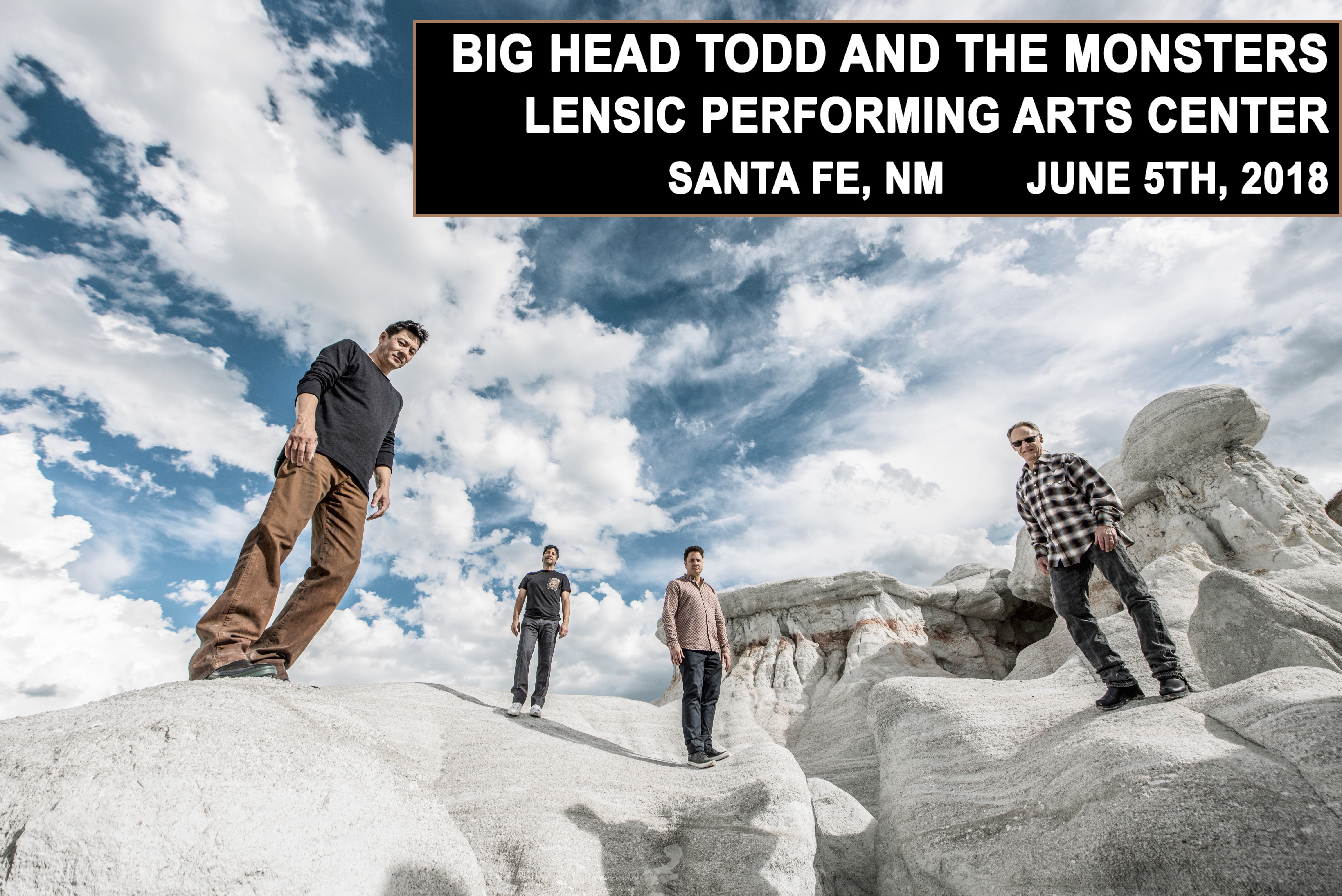 Big Head Todd headlining Lensic Performing Arts Center on June 5th in Santa Fe - Tickets on sale NOW!