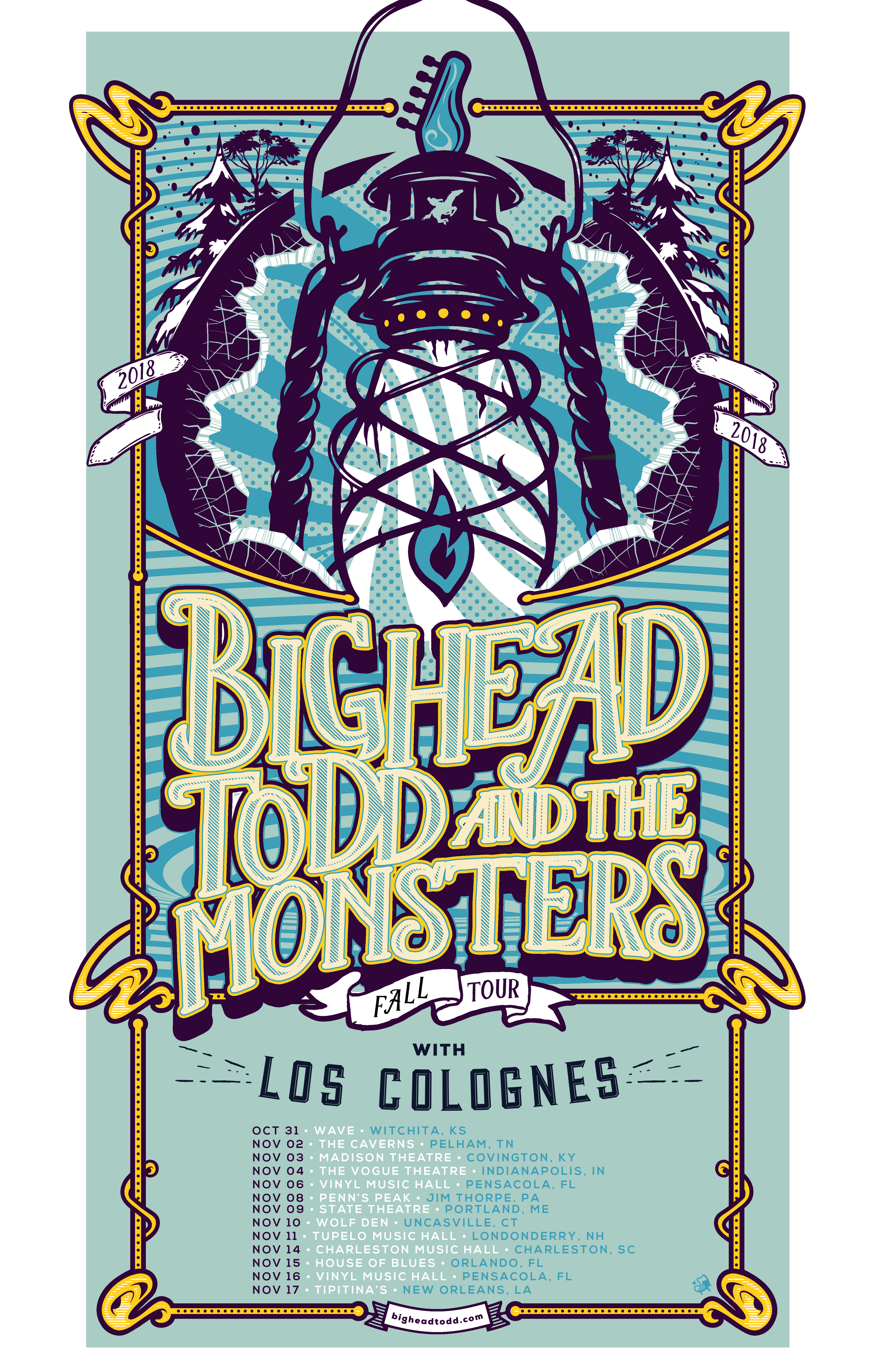 Big Head Todd announces their November fall tour with Los Colognes! Tickets on sale Friday 8/10 at 10am (local).