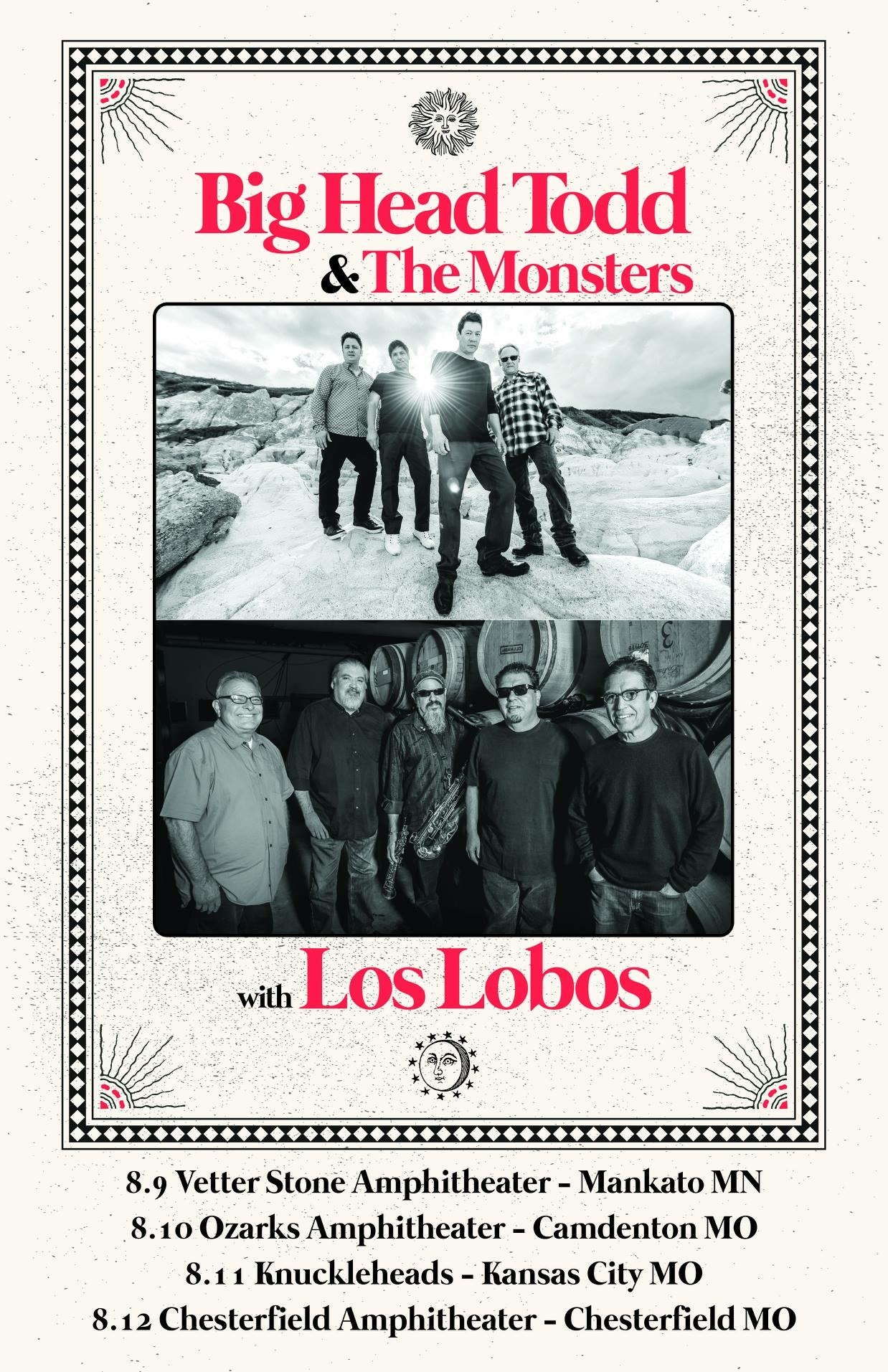 Big Head Todd hitting the road with Los Lobos this summer! Tickets on sale Fri. May 4th!