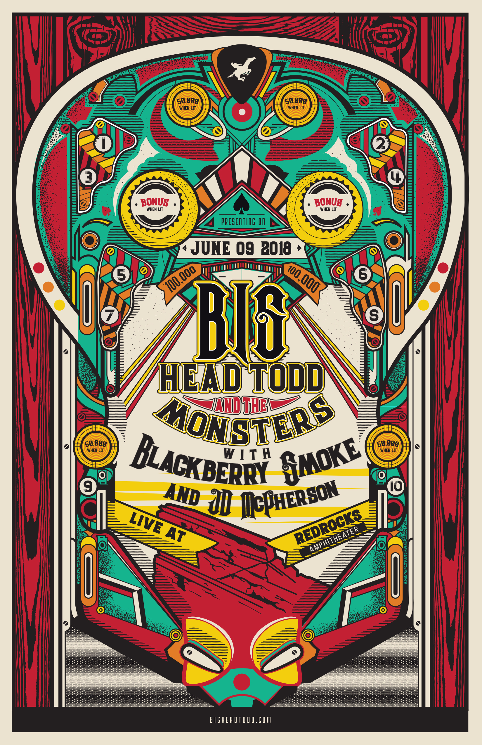 Blackberry Smoke & JD McPherson will be joining Big Head Todd at Red Rocks on June 9th!