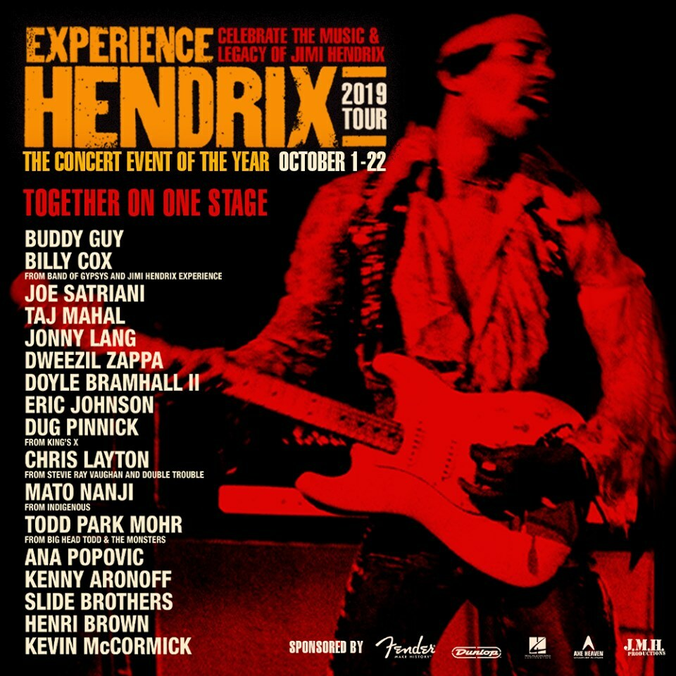 Catch Todd Park Mohr on the 2019 Hendrix Experience Tour!