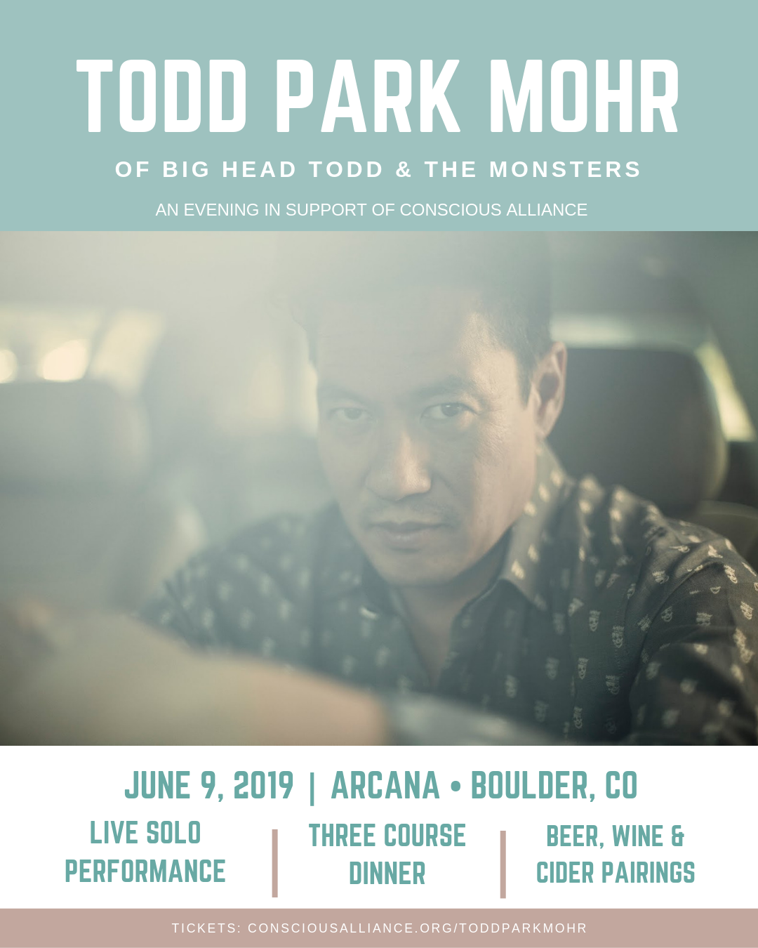 Todd Park Mohr Solo Performance in Boulder: June 9!
